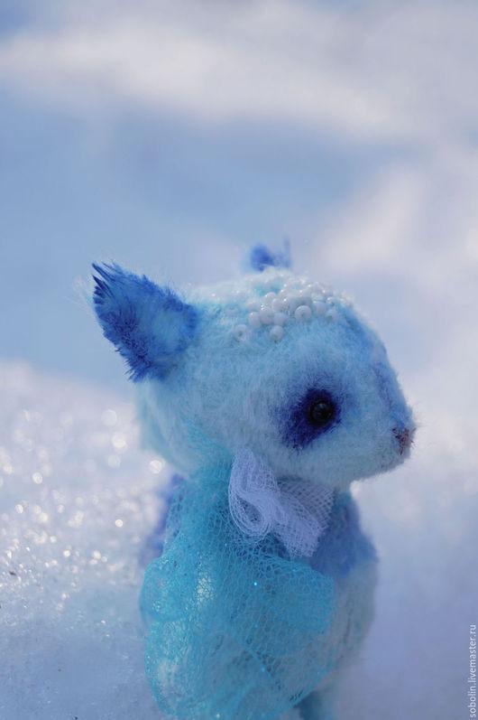 """Мишки Тедди ручной работы. Ярмарка Мастеров - ручная работа. Купить """"Cute friends"""" space blue cat - Космический голубой кот. Handmade."""