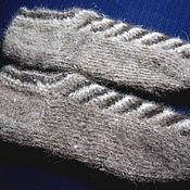 Аксессуары handmade. Livemaster - original item Men`s knitted slippers. Handmade.