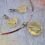 Украшения ручной работы. Ярмарка Мастеров - ручная работа три комплекта с натуральными необработанными камнями. Handmade.