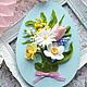"""Яйца ручной работы. Заказать Пасхальные сувениры """" Easter day"""". AnnaPokk. Ярмарка Мастеров. Сирень, разноцветный, Холодный фарфор"""