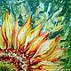 """Картины цветов ручной работы. Ярмарка Мастеров - ручная работа. Купить Картина """"Цветок Солнца"""". Handmade. Комбинированный, цветы"""