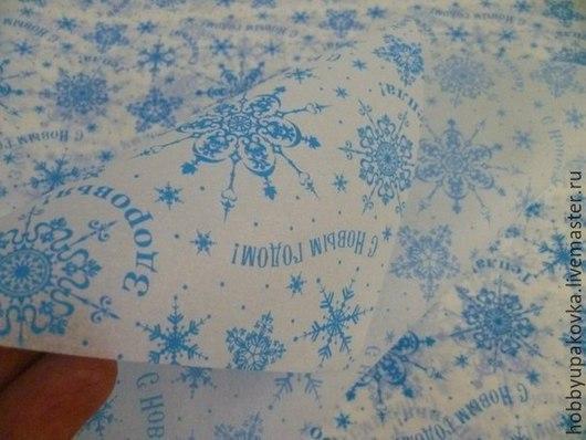 """Упаковка ручной работы. Ярмарка Мастеров - ручная работа. Купить Бумага тишью """"Снежинки"""" новогодняя. Handmade. Упаковка бумага тишью"""