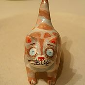 Для дома и интерьера handmade. Livemaster - original item Ceramic cat