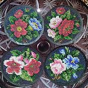 Для дома и интерьера handmade. Livemaster - original item A set of coasters under cups and glasses are