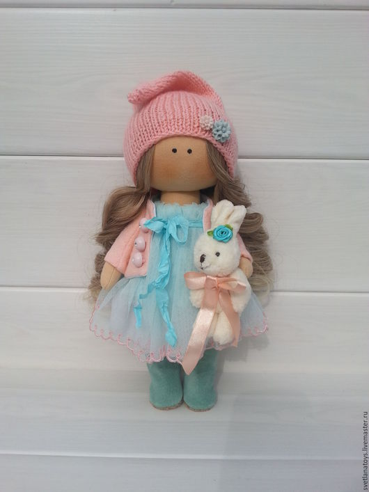 Куклы тыквоголовки ручной работы. Ярмарка Мастеров - ручная работа. Купить интерьерная кукла. Handmade. Бирюзовый, кукла текстильная, гномик