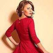 Одежда ручной работы. Ярмарка Мастеров - ручная работа Коктейльное трикотажное платье с рукавом 3/4. Handmade.