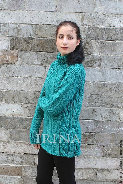 Вязание свитер женский большие размеры