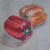 Картины и панно ручной работы. Ярмарка Мастеров - ручная работа Перцы.. Handmade.