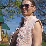 """Одежда ручной работы. Ярмарка Мастеров - ручная работа Жилет войлок """"Розовый"""". Handmade."""