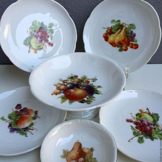 Винтажная посуда. Ярмарка Мастеров - ручная работа. Купить Набор посуды с фруктами. Handmade. Комбинированный, johnson brothers, набор посуды