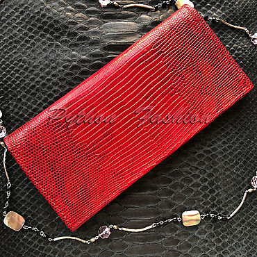Bags and accessories handmade. Livemaster - original item Wallet leather lizard. Handmade.