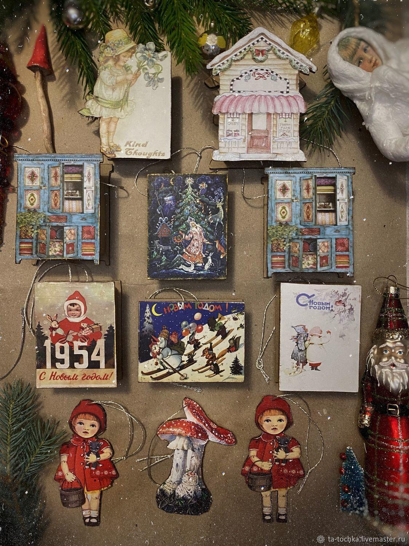 Картонаж. Сюрпризницы (бомбоньерки), Елочные игрушки, Зеленоград,  Фото №1