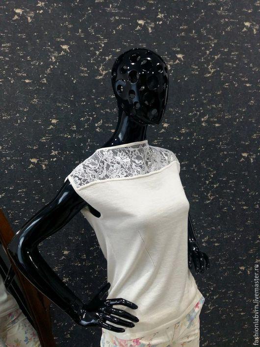 """Блузки ручной работы. Ярмарка Мастеров - ручная работа. Купить Вязаная блузка с тончайшим кружевом """"Невеста"""". Handmade. Джемпер вязаный"""