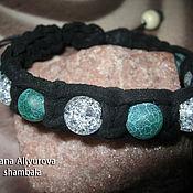 Украшения handmade. Livemaster - original item Bracelet AGATE AND QUARTZ, braided suede cord. Handmade.