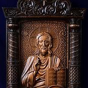 """Иконы ручной работы. Ярмарка Мастеров - ручная работа """"Господь Вседержитель"""" - большая резная икона из дерева. Handmade."""