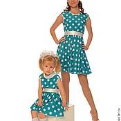 Одежда ручной работы. Ярмарка Мастеров - ручная работа Платья для мамы и дочки Анастасия без подъюбников, комплект. Handmade.