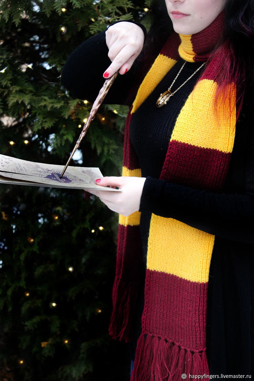 Scarf Harry Potter Gryffindor knit scarf Harry Potter, Scarves, Elektrostal,  Фото №1