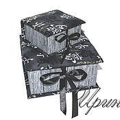 Для дома и интерьера ручной работы. Ярмарка Мастеров - ручная работа Набор шкатулок для хранения. Картонаж.. Handmade.