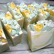 Косметика ручной работы. Ярмарка Мастеров - ручная работа ЦВЕТОЧНОЕ (желтые тюльпаны), натуральное мыло с нуля. Handmade.