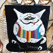 """Сумки и аксессуары ручной работы. Ярмарка Мастеров - ручная работа Кожаная сумка """"Кот Тимоха"""". Handmade."""