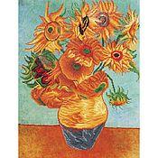 Материалы для творчества handmade. Livemaster - original item Diamond embroidery van Gogh Sunflowers. Handmade.
