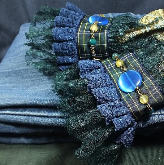 Комплекты украшений ручной работы. Ярмарка Мастеров - ручная работа. Купить Шотландское настроение. Пара манжет.. Handmade.