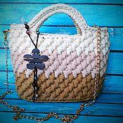 Классическая сумка ручной работы. Ярмарка Мастеров - ручная работа Сумка из трикотажной пряжи. Handmade.