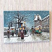 Картины и панно handmade. Livemaster - original item Paris (2)..painting polymer clay pastiche imitation oil painting. Handmade.