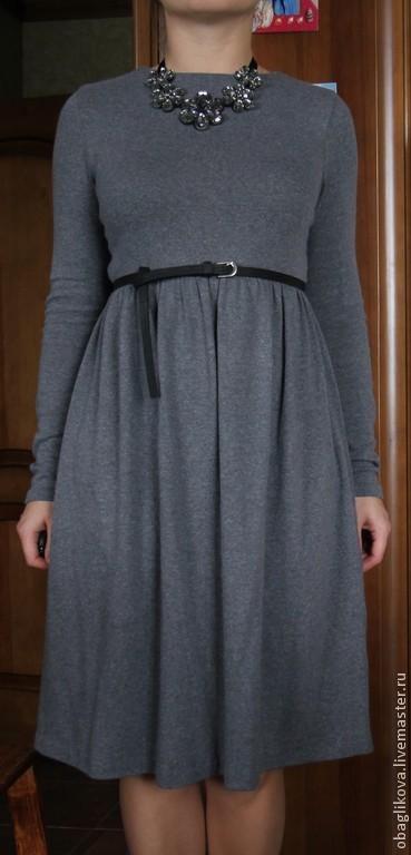 Платья ручной работы. Ярмарка Мастеров - ручная работа. Купить платье 1. Handmade. Серый, платье теплое, платье на заказ