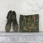 Обувь ручной работы. Ярмарка Мастеров - ручная работа Комплект камуфляжный 38-39 р.. Handmade.