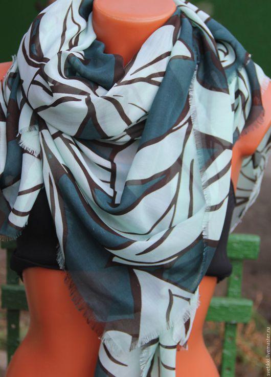 Винтажная одежда и аксессуары. Ярмарка Мастеров - ручная работа. Купить Бронь.Благотворительнй аукцион.палантин Zara))). Handmade. Комбинированный, мята