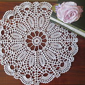 Для дома и интерьера handmade. Livemaster - original item The openwork napkin is connected by a hook Flower illusion.. Handmade.