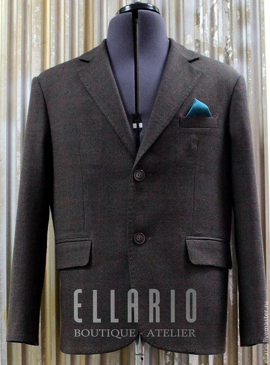 Пиджаки, жакеты ручной работы. Ярмарка Мастеров - ручная работа. Купить Пиджак мужской ELLARIO Basic. Handmade. Коричневый, пиджак
