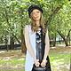 """Платья ручной работы. Ярмарка Мастеров - ручная работа. Купить Валяное платье """"Бело-черное"""". Handmade. Чёрно-белый, бусины"""