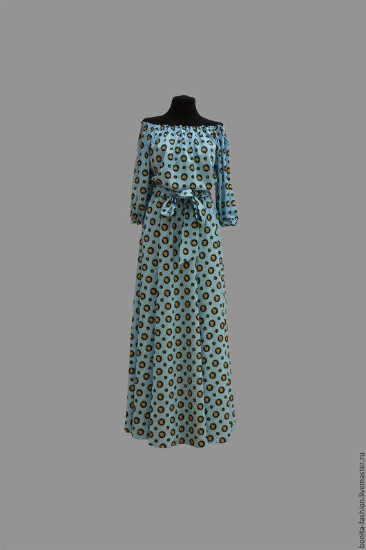 Платья ручной работы. Ярмарка Мастеров - ручная работа. Купить Летнее длинное платье модель 12-71.. Handmade. Комбинированный