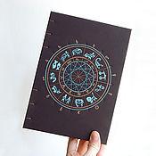 Канцелярские товары ручной работы. Ярмарка Мастеров - ручная работа Астро-блокнот. Handmade.
