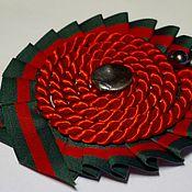 """Украшения handmade. Livemaster - original item Fabroc Brooch """"Red Flower"""". Handmade."""