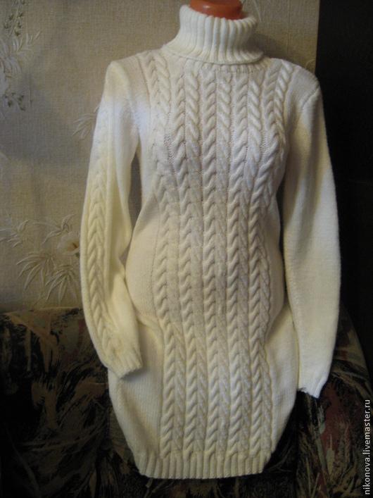 Платья ручной работы. Ярмарка Мастеров - ручная работа. Купить Платье Снежное. Handmade. Белый, зимняя мода, араны
