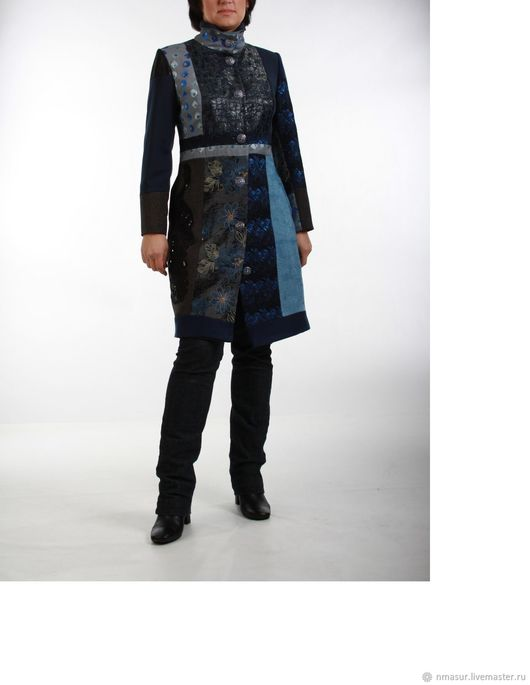 Outer Clothing handmade. Livemaster - handmade. Buy The author's coat 'Blue sky'..The author's coat, autumn, solid