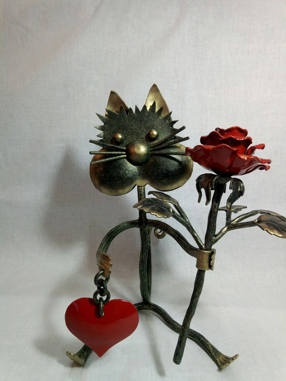 Кот  с розой, Мягкие игрушки, Волгоград,  Фото №1