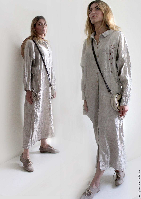 Купить белорусский лен для платья