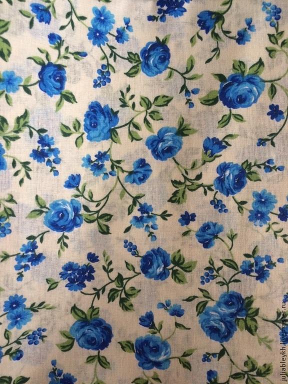 Юбка синие розы