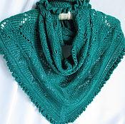 Аксессуары handmade. Livemaster - original item Klondike Bacchus mini shawl sea green. Handmade.
