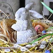 Для дома и интерьера handmade. Livemaster - original item Statuette hare grey naughty Easter. Handmade.