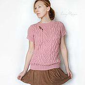 """Одежда ручной работы. Ярмарка Мастеров - ручная работа Жилет """"Розовый рассвет"""". Handmade."""