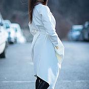 Одежда handmade. Livemaster - original item Dress, White dress, Cashmere dress, fashion dress warm. Handmade.