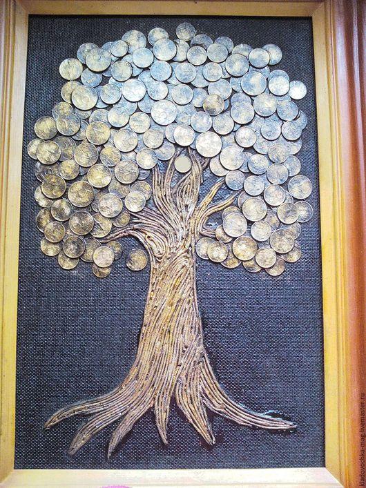 """Обереги, талисманы, амулеты ручной работы. Ярмарка Мастеров - ручная работа. Купить Панно """"Денежное дерево."""". Handmade."""