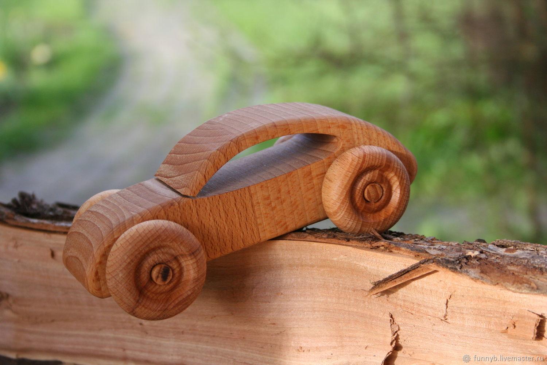 Машинка деревянная. Вальдорфская игрушка. Деревянная машинка, Техника и роботы, Москва,  Фото №1