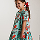 """Одежда для девочек, ручной работы. Заказать Платье для девочки из американского хлопка """"Нина"""". Лариса Тальдрик (MariAnnA-style). Ярмарка Мастеров."""