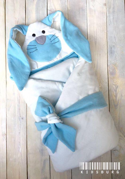 Для новорожденных, ручной работы. Ярмарка Мастеров - ручная работа. Купить Конверт для новорожденного Зайка. Handmade. Конверт, конверт для новорожденных
